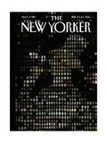 Night Windows - The New Yorker Cover, February 17, 2014 Regular Giclee Print by Jorge Colombo