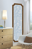 Blue and Brown Alphabet Print Peel and Stick Deco Panel Wall Decal