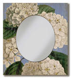 Hydrangea Mirror Wood Sign Wood Sign