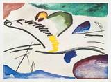 Lyrisches (Man on Horseback) Kunstdrucke von Wassily Kandinsky