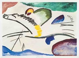 Lyrisches (Man on Horseback) Print by Wassily Kandinsky
