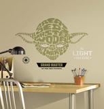 Guerre Stellari - Yoda tipografico gigante (sticker murale) Decalcomania da muro