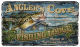 Angler's Cove Fishing Lodge Vintage Wood Sign Wood Sign
