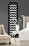 Black and White Chevron Peel and Stick Deco Panel Wall Decal