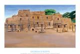 Taos Pueblo Reprodukcje autor Georgia O'Keeffe