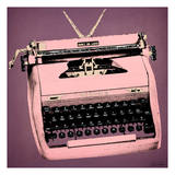 Pink Typewriter Prints by Tina Carlson