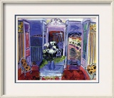 Interior with Open Windows Framed Giclee Print by Raoul Dufy
