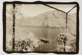 Rowboat on Lake Como Photographic Print by Theo Westenberger