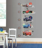 Cars 2 Lightening McQueen Peel & Stick Growth Chart Wall Decal