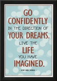 Live the Life You Have Imagined Thoreau Quote Art Print Poster Print