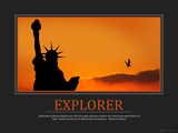 Explorer (French Translation) Photographic Print