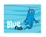 One Fish Two Fish Ocean Collection IV - Blue Fish (ocean) Posters by Theodor (Dr. Seuss) Geisel