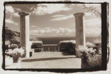 Two columns and the sea Photographic Print by Theo Westenberger