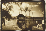 Pool and Palms, Australia Photographic Print by Theo Westenberger
