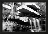 Frank Lloyd Wright Falling Waters Archival Photo Poster Print