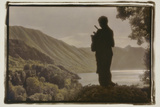 Statue overlooking the Bay Photographic Print by Theo Westenberger