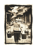 Yokes and Pails, Lijiang, China Photographic Print by Theo Westenberger