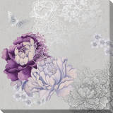 Floral Metallic Canvas Gallery Wrapped Canvas