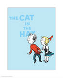 Cat in the Hat Blue Collection III - Sally & Her Brother (blue) Posters by Theodor (Dr. Seuss) Geisel