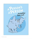 Horton Hears a Who (blue circle) Prints by Theodor (Dr. Seuss) Geisel