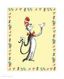 Cat in Hat Yellow Border Collection I - The Cat in the Hat (yellow bordered) Prints by Theodor (Dr. Seuss) Geisel