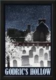 Godric's Hollow Retro Travel Print