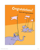 Congratulations (orange) Print by Theodor (Dr. Seuss) Geisel
