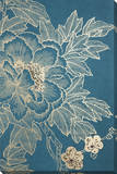 Lhasa  Lotus - Teal Canvas Stretched Canvas Print