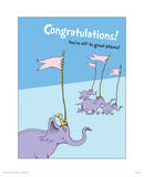 Congratulations (blue) Poster by Theodor (Dr. Seuss) Geisel