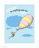 Ready for Anything (blue) Poster by Theodor (Dr. Seuss) Geisel