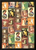 Caffe - Vintage Coffee Advertisement Poster Collage Posters