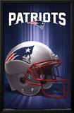 New England Patriots Helmet Logo NFL Sports Poster Posters