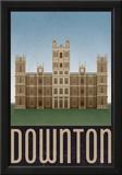 Downton Retro Travel Poster Posters