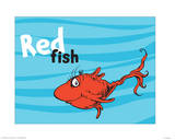 One Fish Two Fish Ocean Collection III - Red Fish (ocean) Prints by Theodor (Dr. Seuss) Geisel