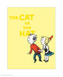 Cat in the Hat Yellow Collection III - Sally & Her Brother (yellow) Prints by Theodor (Dr. Seuss) Geisel