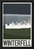 Winterfell Retro Travel Poster Posters