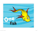 One Fish Two Fish Ocean Collection I - One Fish (ocean) Prints by Theodor (Dr. Seuss) Geisel