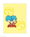 Cat in the Hat Yellow Collection II - Things 1 & 2 Back to Back (yellow) Prints by Theodor (Dr. Seuss) Geisel