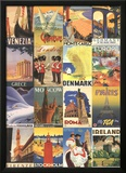 Vacation in Europe - Vintage Style Poster Collage Photo