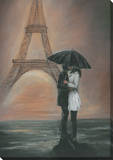 Kissing In Paris Canvas Gallery Wrapped Canvas
