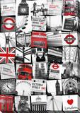 London Montage Canvas Stretched Canvas Print