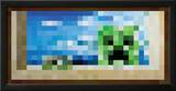 Minecraft Creeper Window Video Game Poster Print
