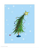 Grinch Collection II - Who-ville Christmas Tree (snow) Art by Theodor (Dr. Seuss) Geisel