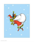 Grinch Collection III - He's a Mean One (snow) Posters by Theodor (Dr. Seuss) Geisel