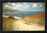Path Through the Corn at Pourville Prints by Claude Monet