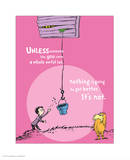 Unless Someone Cares (pink) Art by Theodor (Dr. Seuss) Geisel