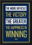 Pele Winning Quote (Brazil) Print