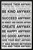 Mother Teresa Anyway Quote Posters