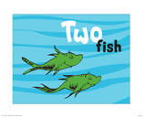 One Fish Two Fish Ocean Collection II - Two Fish (ocean) Posters by Theodor (Dr. Seuss) Geisel