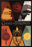 Game of Thrones House Sigils Television Poster Photo
